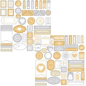 Picture of The Wedded Bliss Collection by Katie Pertiet Designer Accent Stickers - Set 2
